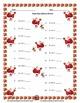 Single Digit Addition - Christmas Themed Worksheets - Horizontal