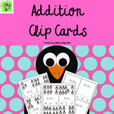 Single Digit Addition Clip Cards: Penguin Themed