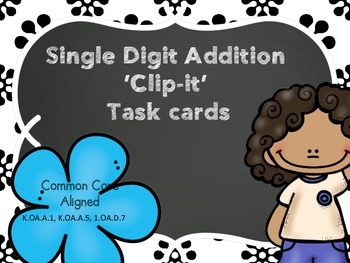 Single Digit Addition 'Clip-it'