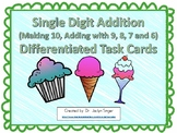 Single Digit Addition Differentiated Task Cards