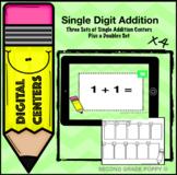 Single Digit Addition Digital Center