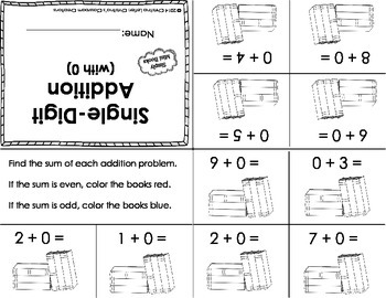Single Digit Addition Activities: Simply Mini Books
