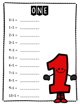 Single Digit Addition Fact Master Book (1-10)