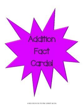 Single-Digit Addition Flash Cards