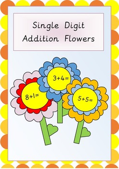 Single Digit Addition Flowers- Great for outdoor activities or display!