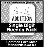 Single Digit Addition Fluency Pack: Second Grade