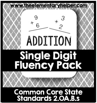 Single Digit Addition Fluency Pack: Second Grade