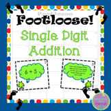 Single Digit Addition Task Cards - Footloose Math Game