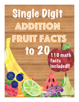 Single Digit Addition Fruit Facts to 20