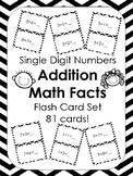 Single Digit Addition Math Facts Flash Cards Over 80 Cards!