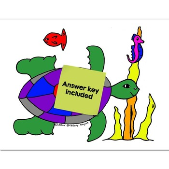 Single Digit Addition Math Practice Under the Sea Color by Number