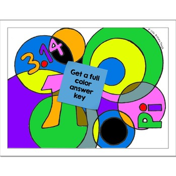Single Digit Addition Math Practice Pi Day Color by Number