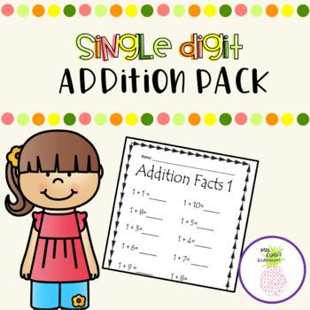 Single Digit Addition Pack