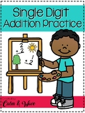 Single Digit Addition Practice Pages