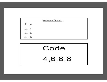 Single Digit Addition Problems with Missing Addends-Lock Box Escape Room