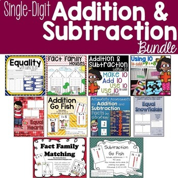 Single Digit Addition & Subtraction BUNDLE