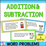 Addition & Subtraction Task Cards (Distance Learning)
