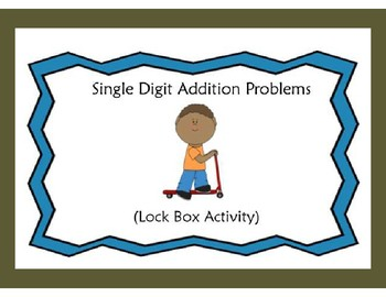 Single Digit Addition(Sums in the 20s)-Lock Box Escape Room