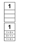 Single Digit Addition Task Boxes 1-10 (fit in IRIS boxes)
