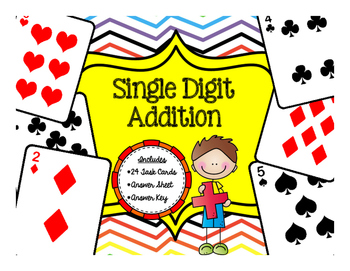 Single Digit Addition {Task Cards}
