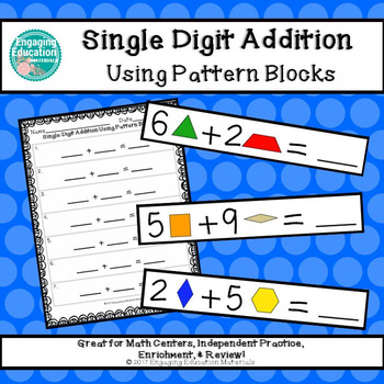 Single-Digit Addition Using Pattern Blocks