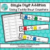Single-Digit Addition Using Teddy Bear Counters