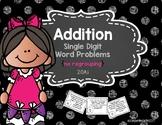 Single Digit Addition Word Problems