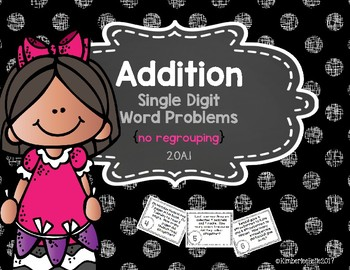 Single Digit Addition Word Problems