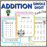 Single Digit Addition Worksheets | Earth Day