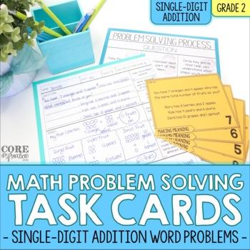 Single Digit Addition - Write To Explain Math Task Cards