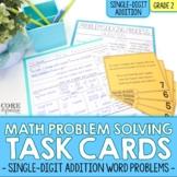 2nd Grade Single Digit Addition Math Word Problem Task Car