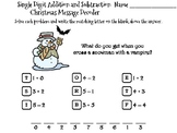 Single Digit Addition and Subtraction Christmas Math Activity: Message Decoder