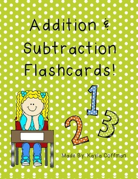 Single Digit Addition and Subtraction Flashcards
