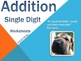 Single Digit Addition and Subtraction Worksheet Bundle (60 pages)