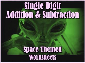 Single Digit Addition and Subtraction Worksheet Bundle - S