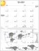 Single Digit Addition - African Safari Themed Worksheets -