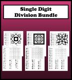 Single Digit Division Color Worksheet Bundle