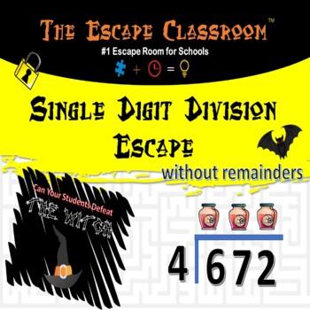 Single Digit Division Escape Room