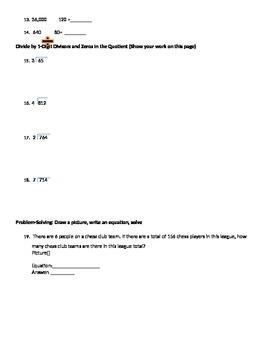 Single Digit Divisor Division Worksheet