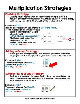 Single Digit Multilpication Strategies
