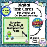 Single Digit Multiplication Digital Task Cards - Boom Learning™ Math Fluency