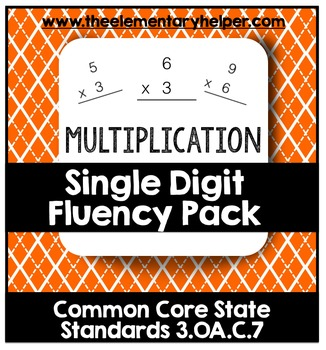 Single-Digit Multiplication Fluency Pack