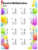 Single Digit Multiplication Worksheet Packet