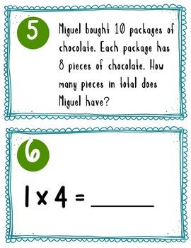 Single Digit Multiplication Scoot