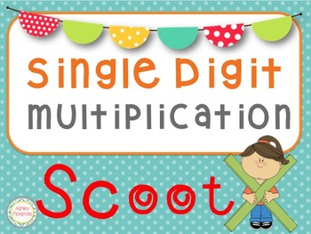 Single Digit Multiplication Scoot Game (30 Cards)