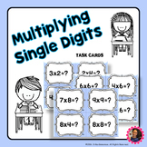 Single Digit Multiplication Task Cards