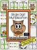 Single Digit Multiplication Task Cards, Recording Sheet an