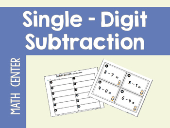 Single-Digit Subtraction