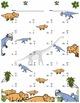 Single Digit Subtraction - Dinosaur Themed - Vertical