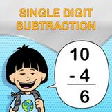 Single Digit Subtraction Worksheet Maker - Create Infinite Math Worksheets!
